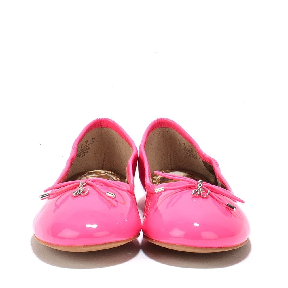 a4f40ef3537a0d Felicia Pink Patent Leather Ballet Flats