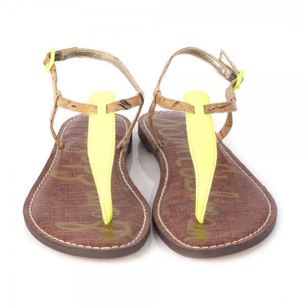 e5671ef5a186 Gigi Neon Citrine T-Strap Flat Sandals