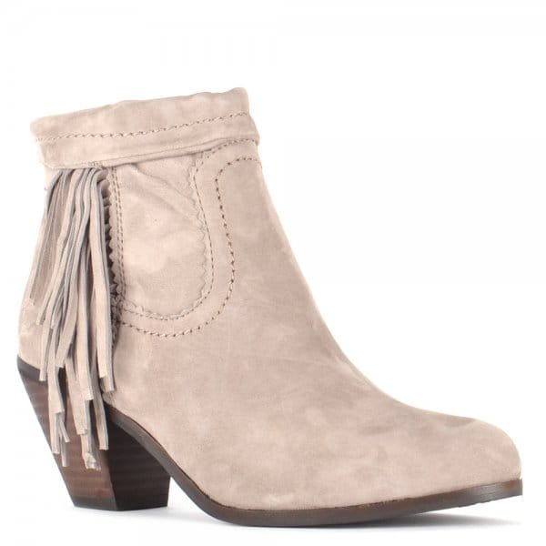 Sam Edelman Louie Taupe Suede Ankle Boots