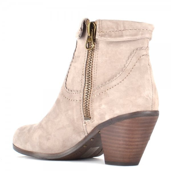 45b0265d1eda4d Louie Taupe Suede Ankle Boots