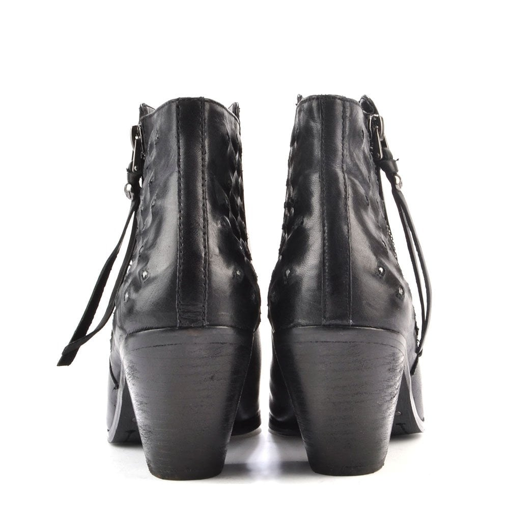 7dea8e3c9 Sam edelman Lucille Black Studded Ankle Boots