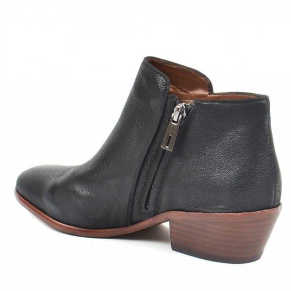 9323baa0011b Sam Edelman Petty Black Leather Ankle Boot