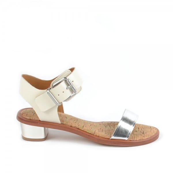 b5c31763a Sam Edelman Trina Silver and White Sandals