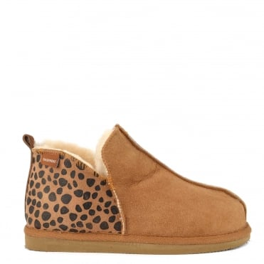 Annie Chestnut and Leopard Slipper Boot