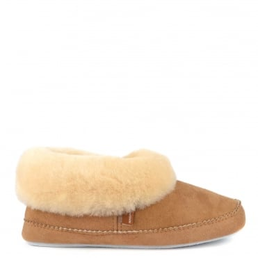 Emmy Chestnut Sheepskin Slipper Boot