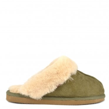 Jessica Olive Sheepskin Slipper