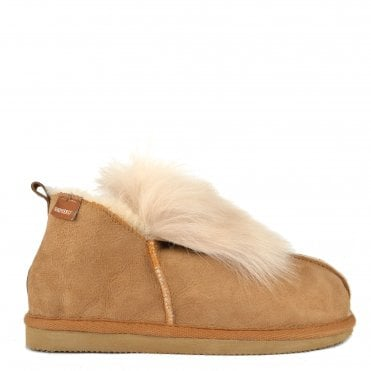 Jolina Chestnut Sheepskin Boot