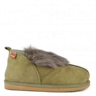 Jolina Olive Sheepskin Boot