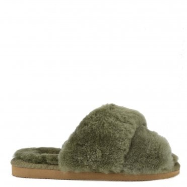 Lovisa Olive Sheepskin Slipper