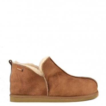 Mens' Anton Antique Cognac Suede Slipper Boot