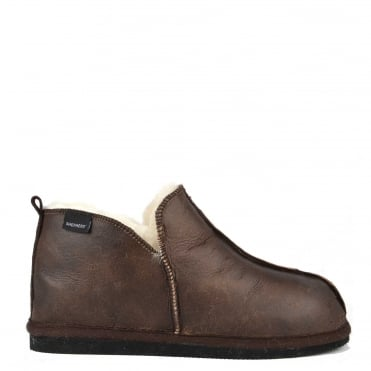 Mens' Anton Oiled Cognac Suede Slipper Boot