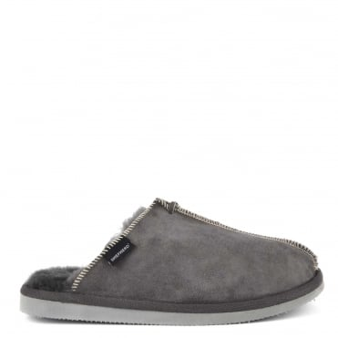 Mens' Hugo Asphalt Suede Slipper