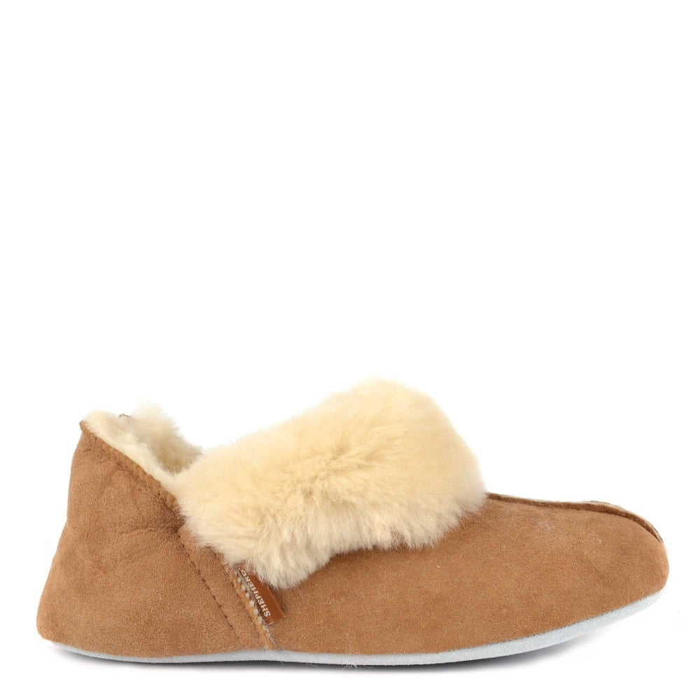 3d8264a20673 Shepherd of Sweden Nina Chestnut Sheepskin Slipper Boot