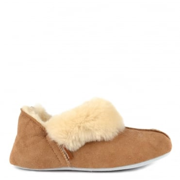 Nina Chestnut Sheepskin Slipper Boot
