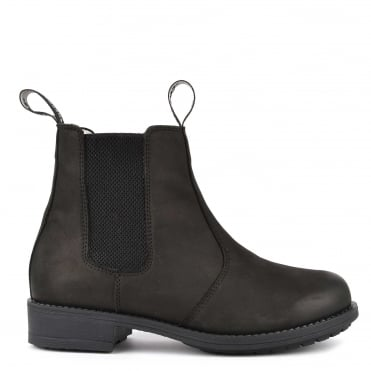Sanna Black Nubuck Leather Boot