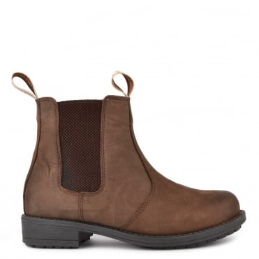Sanna Brown Nubuck Leather Boot