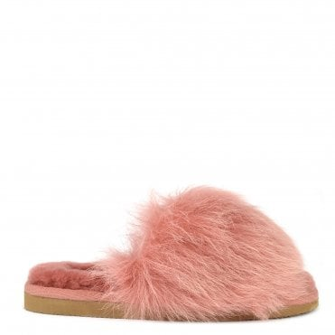 Tessan Marsala Fluffy Slipper