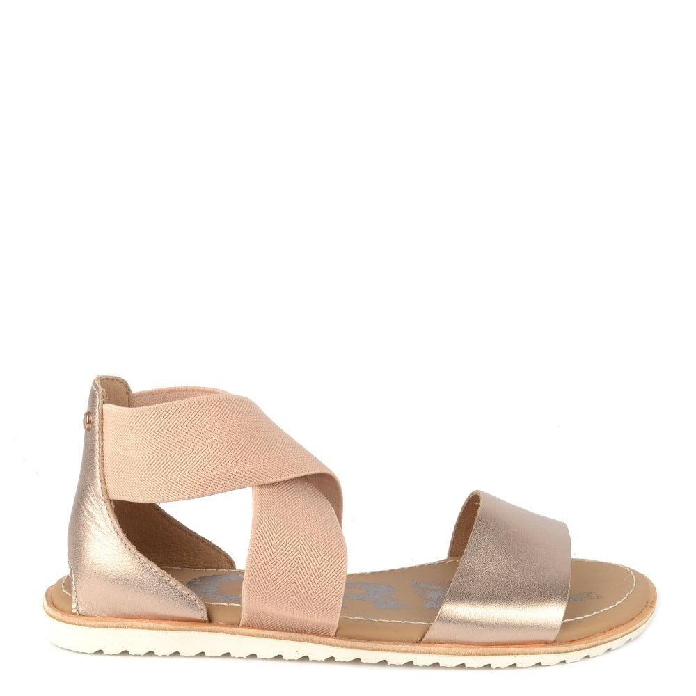 5883d3870ee67 Sorel Ella Warm Gold Flat Sandal
