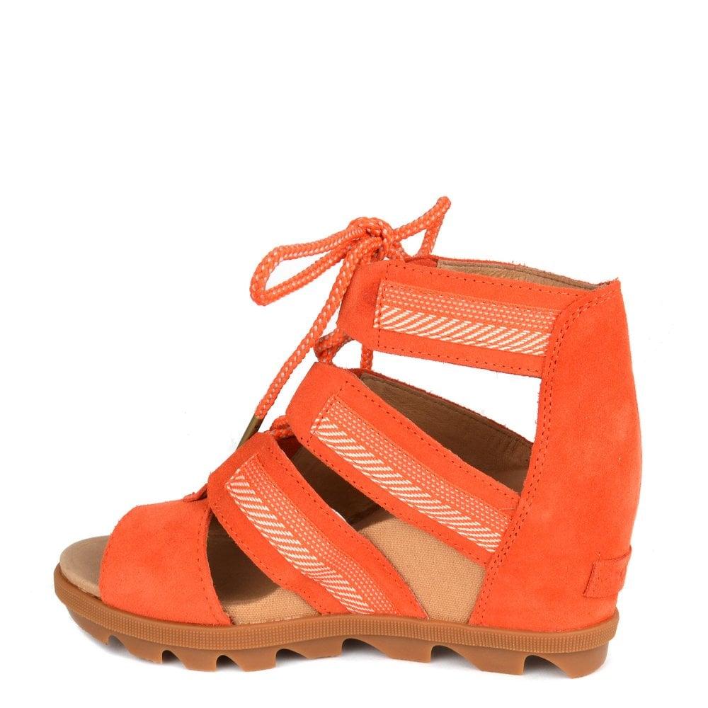 4059eb2f05b Sorel Joanie II Orange Lace Wedge Sandal