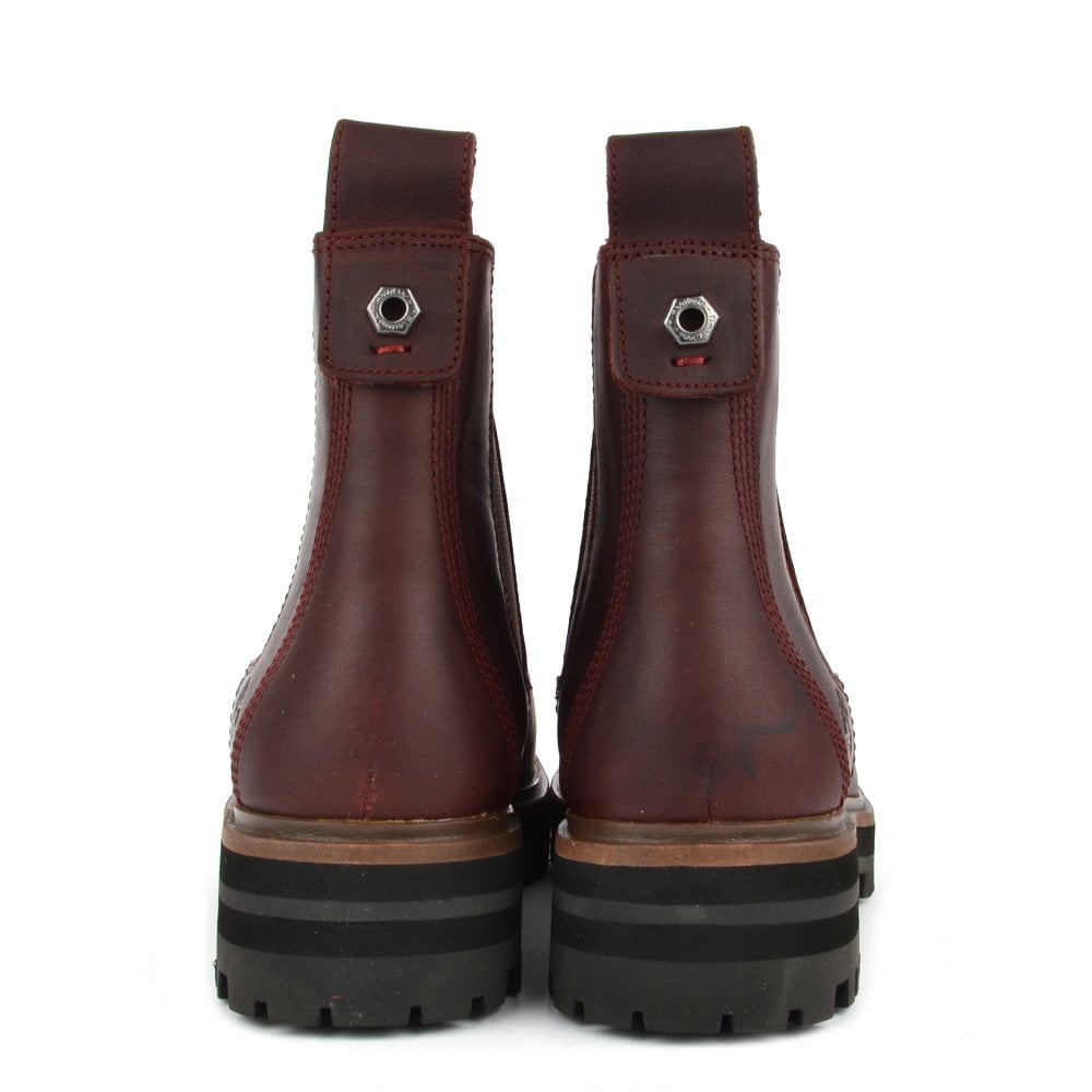 Carnicero maquillaje En expansión  Timberland London Square 6 Inch Boots in Burgundy