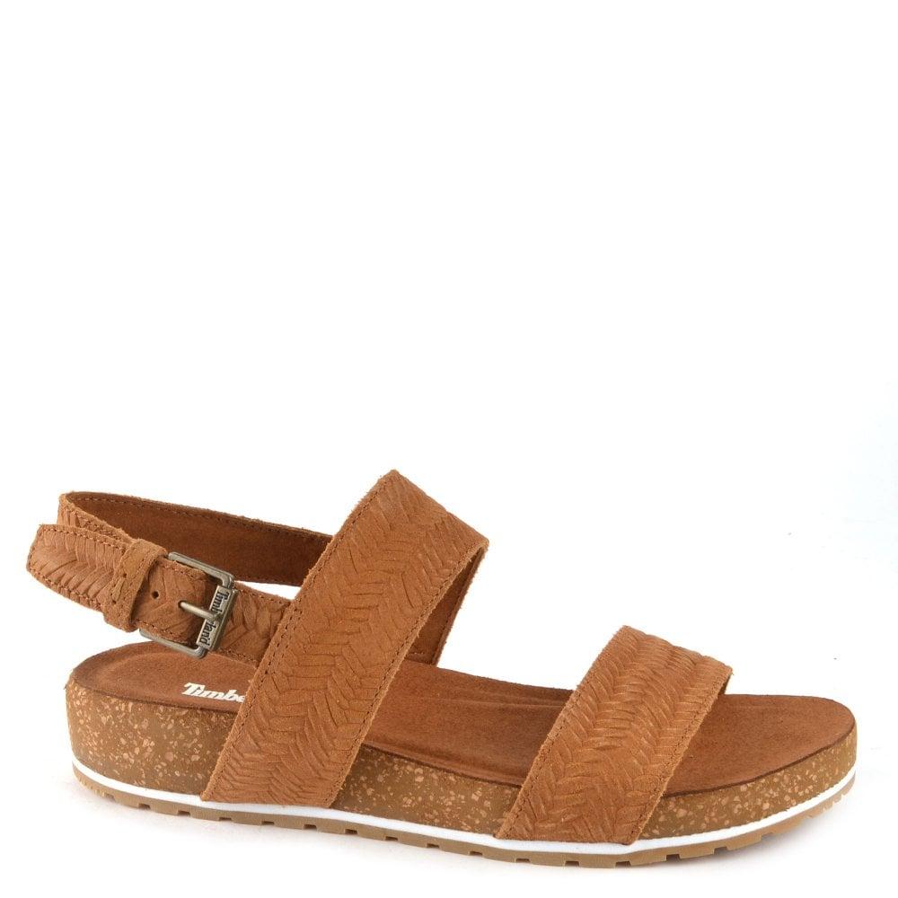 De tormenta Semejanza Tentación  Timberland Malibu Waves 2-Band Sandals in Brown
