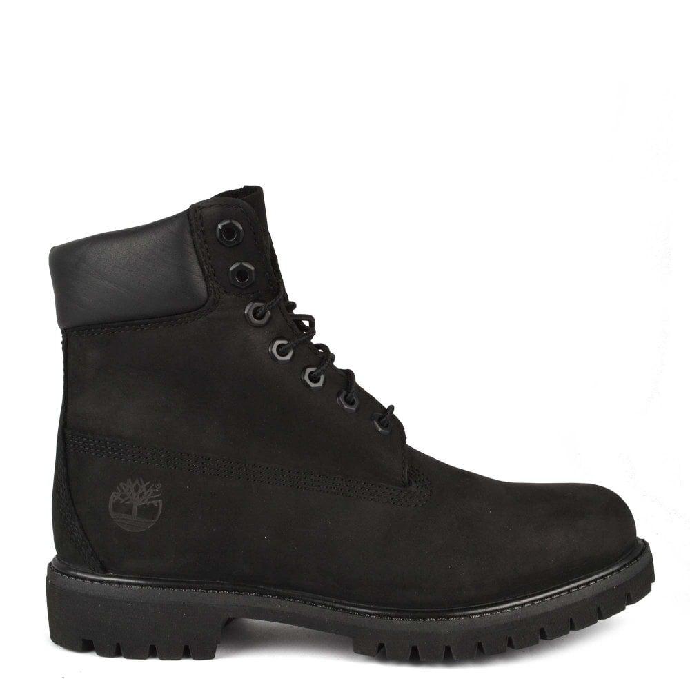 Mens' 6 Inch Premium Black Leather Boot