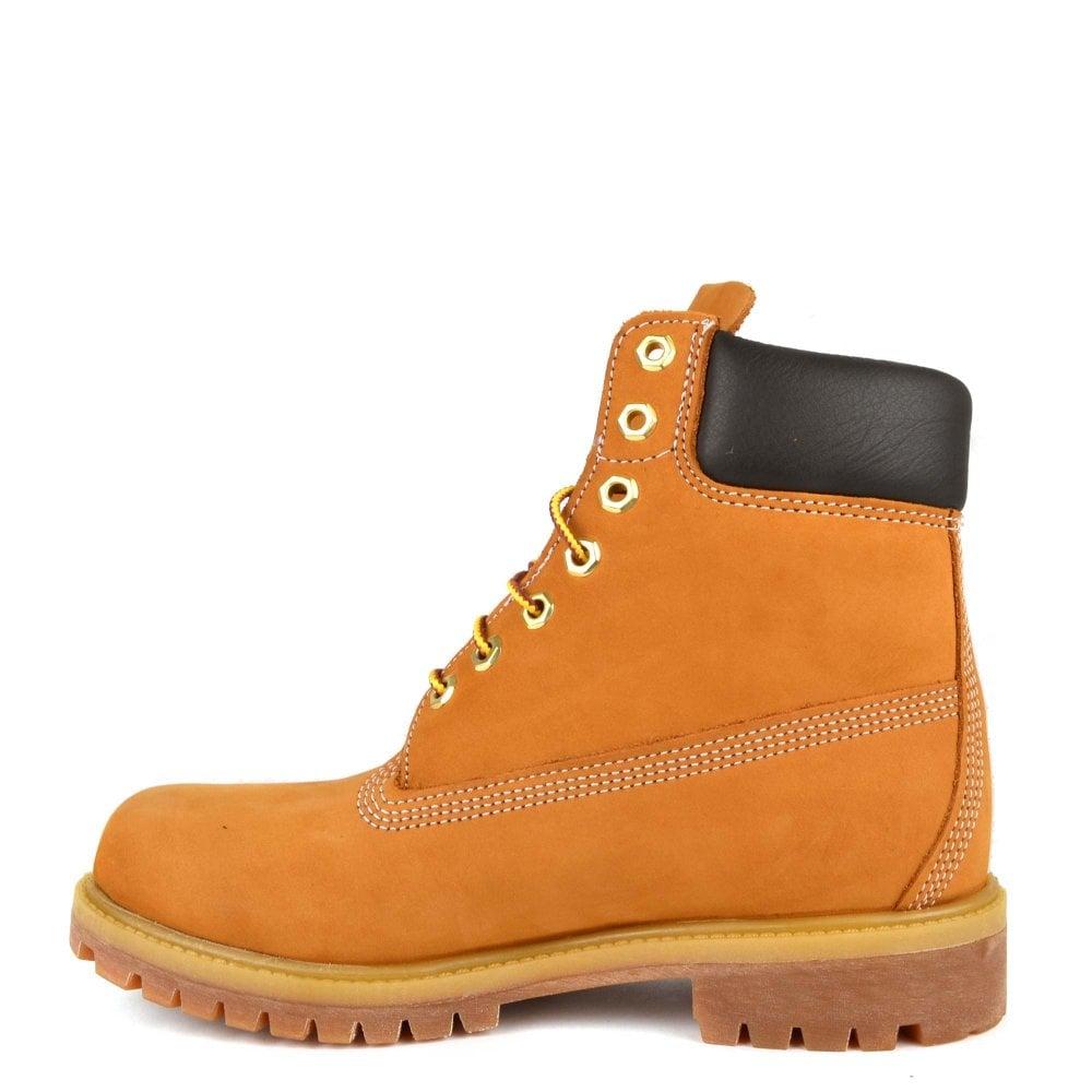 e19911572b9f69 Timberland Mens  6 Inch Premium Wheat Leather Boot