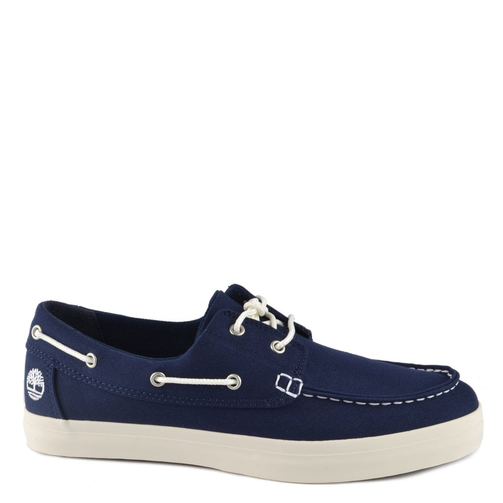 9d245ff42e5 Shop The Men's Timberland Union Wharf Navy Canvas Boat Shoe
