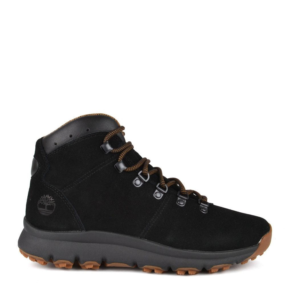 3e3c30659fe Men's World Hiker Mid Black Suede Boot