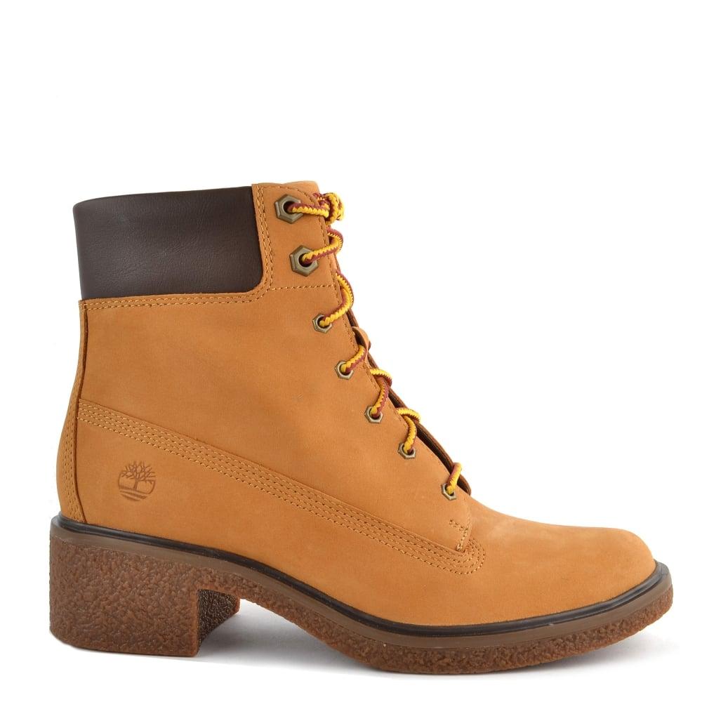 b149704b3489b Womens  Timberland Brinda 6 Inch Wheat Lace Up Boot