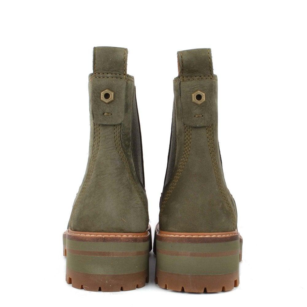 6cd5a6a2441 Women's Courmayeur Valley Green Leather Chelsea Boot