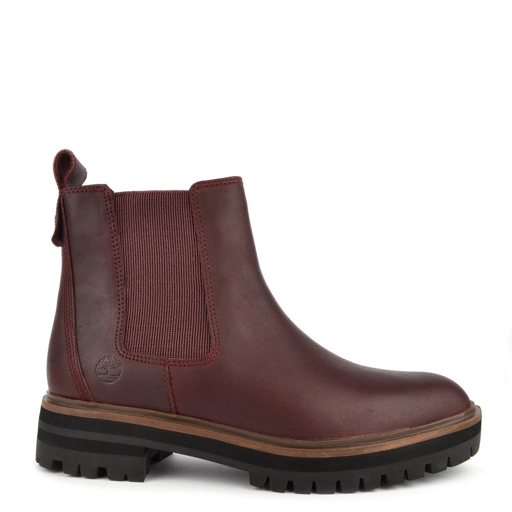 Women's London Square Burgundy Chelsea Boot