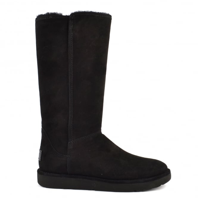 UGG Abree II Classic Luxe Black Suede Boot