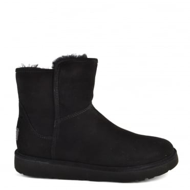 Abree Mini Lux Classic Black Suede Boot