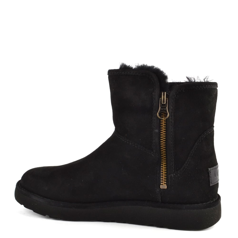ae1c16e9795 Abree Mini Lux Classic Black Suede Boot