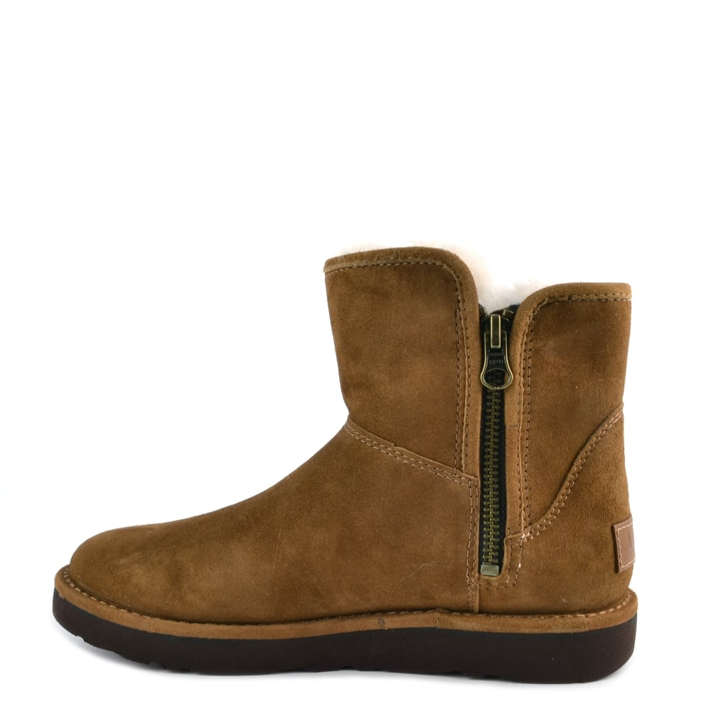 66136380281 UGG Abree Mini Lux Classic Bruno 'Brown' Suede Boot