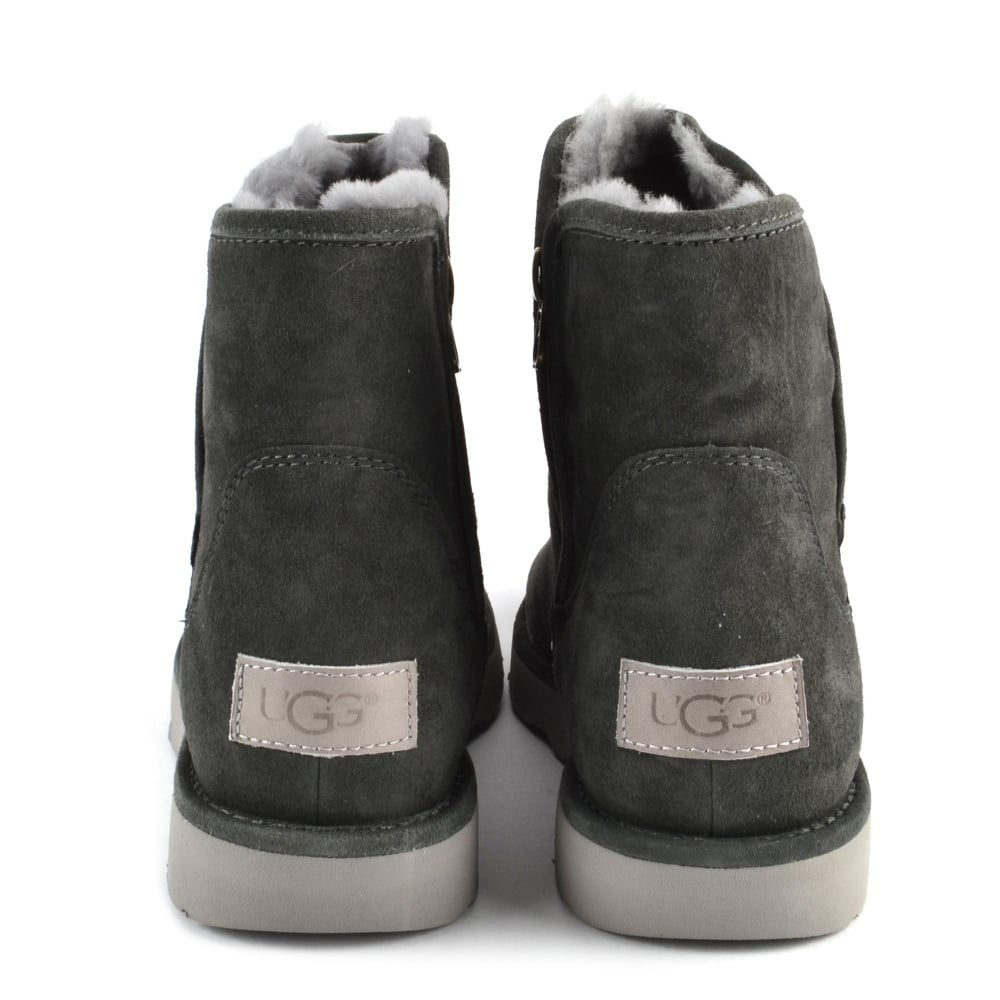 e3b3a0b6032 Abree Mini Lux Classic Grigio 'Dark Grey' Suede Boot
