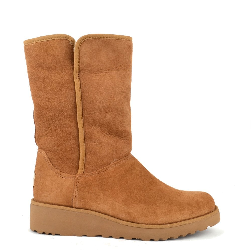 ae53083d655 Amie Classic Chestnut Suede Wedge Sheepskin Boot