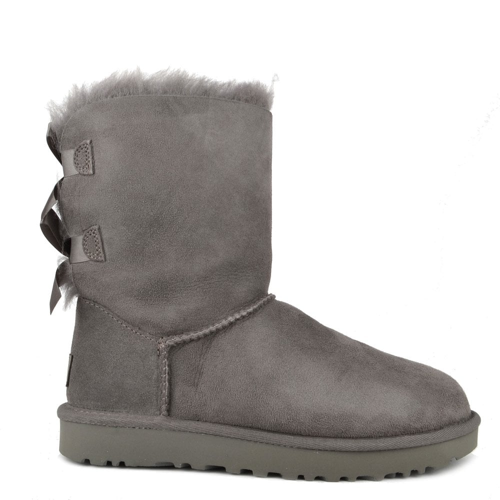 c53e601893d Bailey Bow II Classic Grey Suede Boot