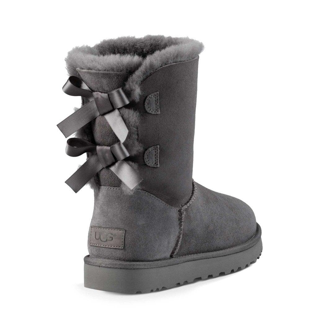 UGG Bailey Bow II Sheepskin Boots in Grey