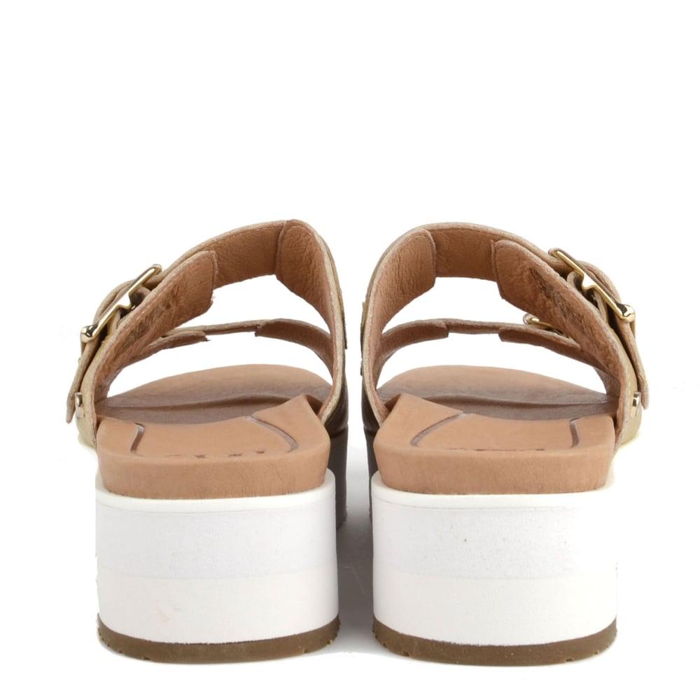 883e2e937df UGG Cammie Metallic Gold Leather Platform Sandal