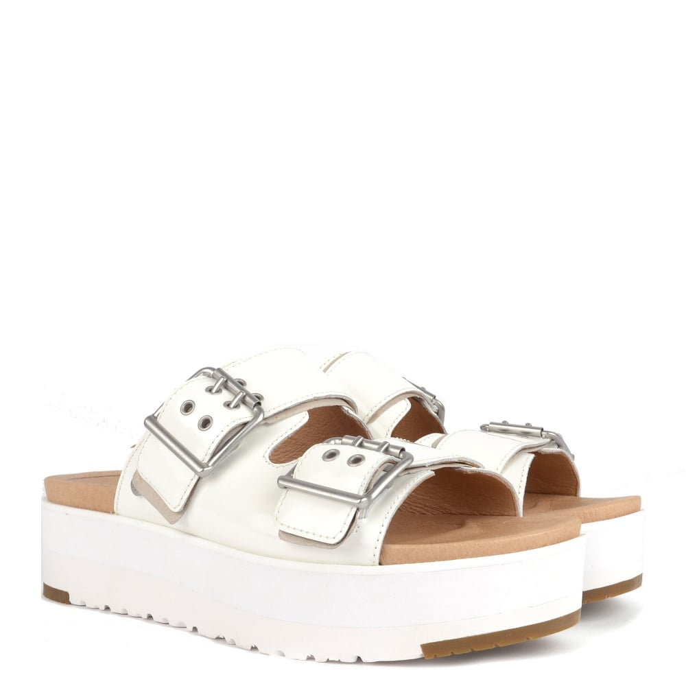 209434a3f97 Cammie White Patent Leather Platform Sandal