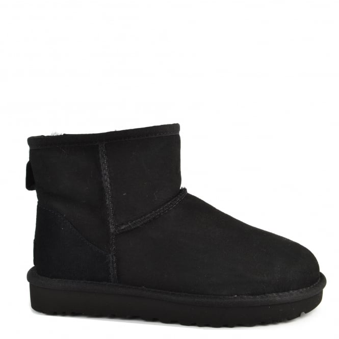 UGG Classic Mini II Black Suede Boot