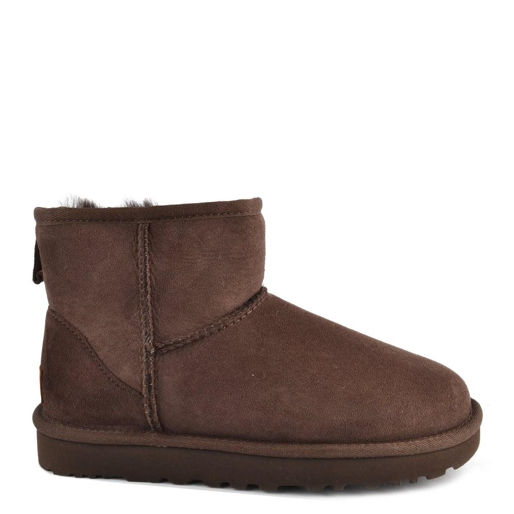 Classic Mini II Chocolate Suede Boot