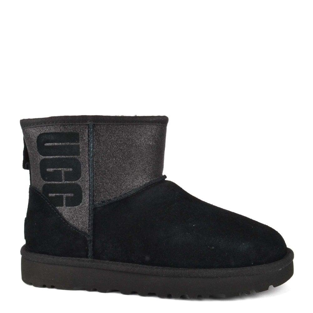 48ef0bb51a4 Classic Mini Logo Sparkle Black Boot