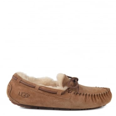 Dakota Chestnut Suede Slipper
