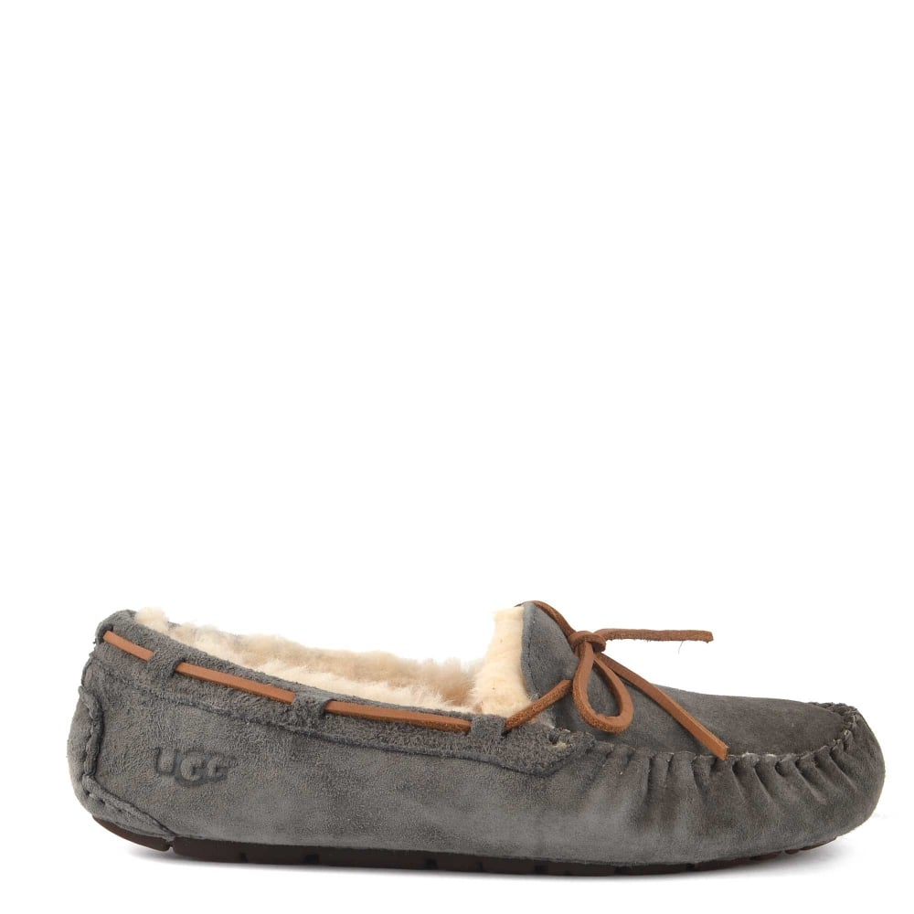 Dakota Pewter Suede Slipper