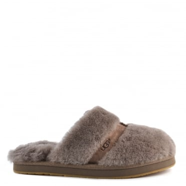 Dalla Slate 'Brown' Sheepskin Slipper
