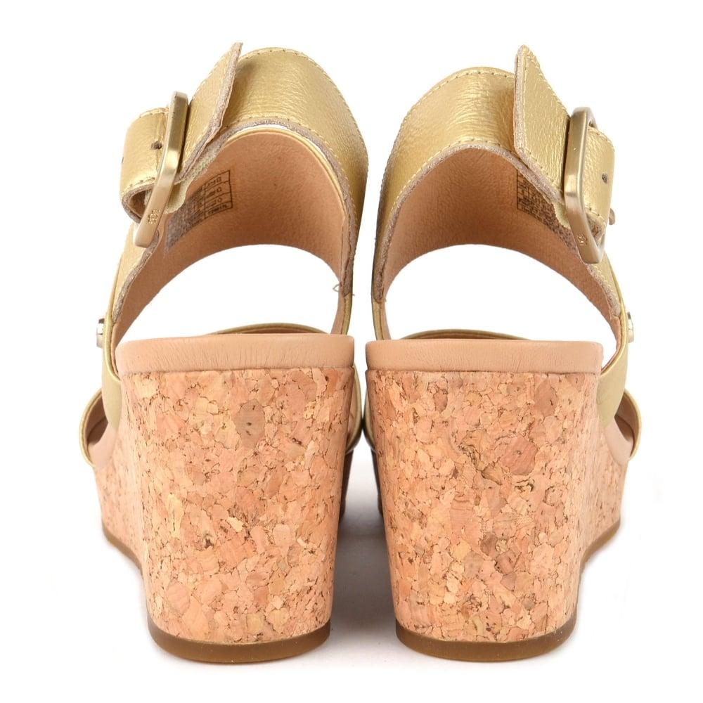 2e725607e16 Elena II Metallic Soft Gold Wedge Sandal