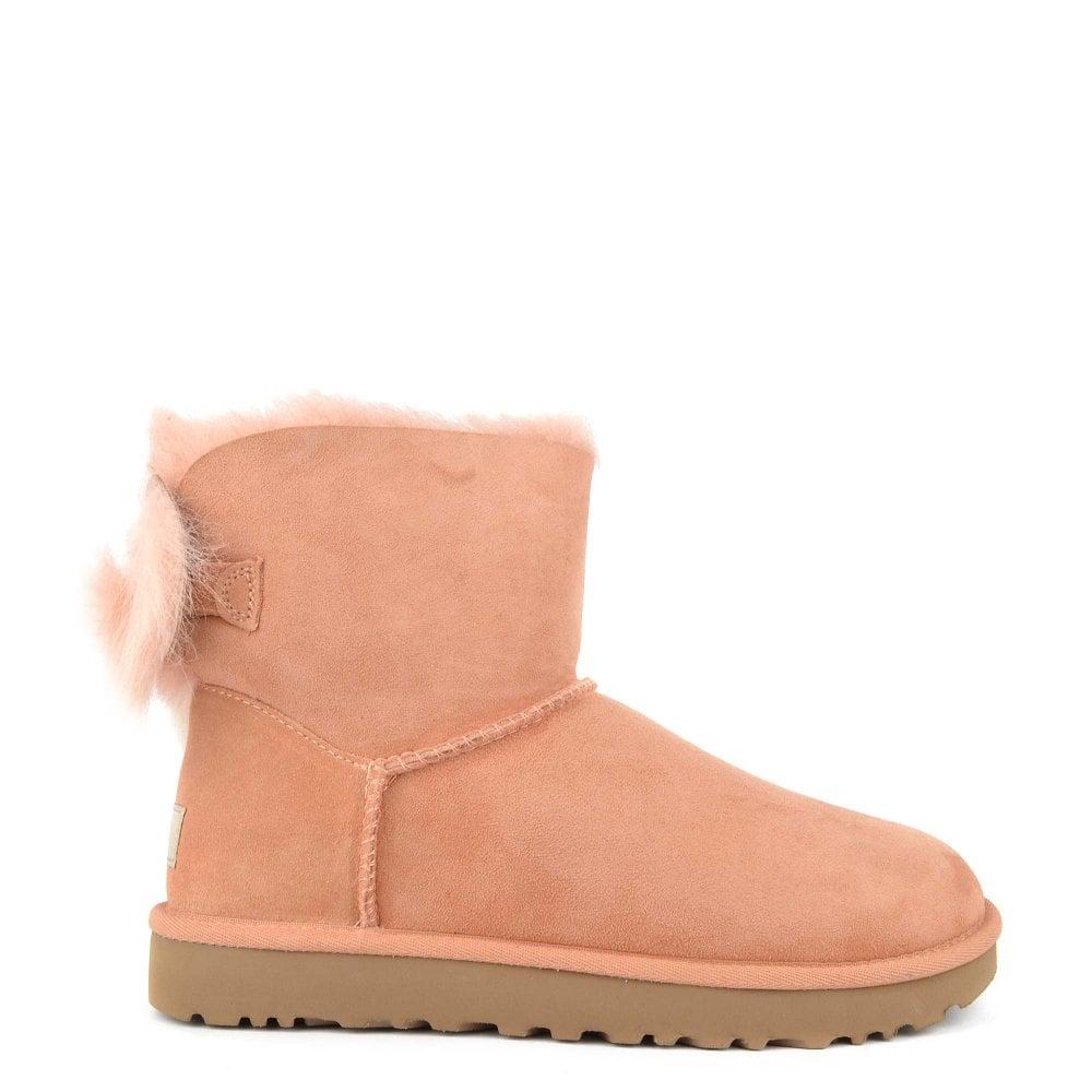 1619ef81f44 Fluff Bow Mini Suntan 'Pink' Boot